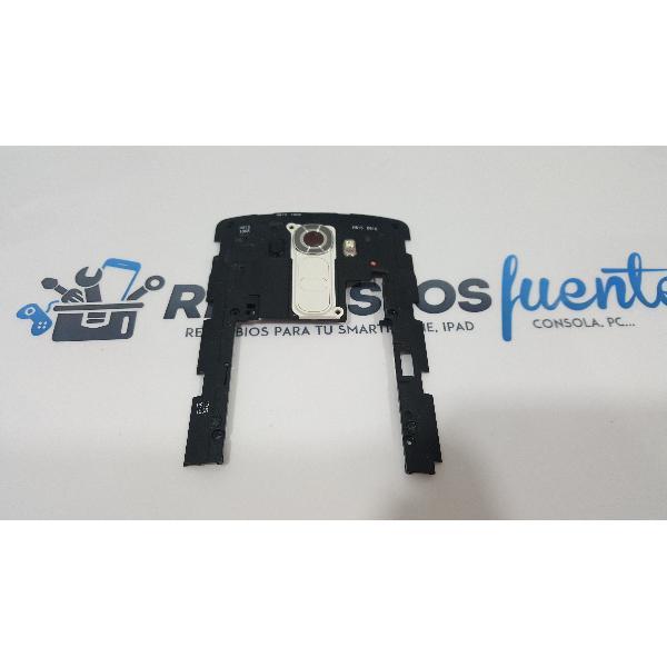 CARCASA INTERMEDIA CON BOTONES Y LENTE DE CAMARA ORIGINAL PARA LG G4 H815 BLANCO - RECUPERADA