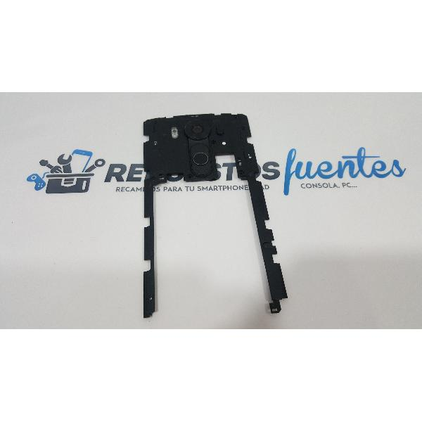 CARCASA INTERMEDIA CON BOTONES Y LENTE DE CAMARA ORIGINAL PARA LG H960A V10 NEGRA - RECUPERADA