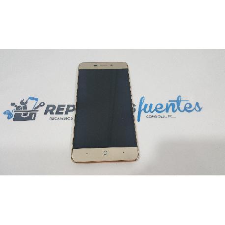 PANTALLA LCD DISPLAY + TACTIL CON MARCO ZTE BLADE A452 DORADA - RECUPERADA
