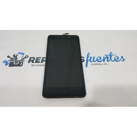 PANTALLA LCD DISPLAY + TACTIL CON MARCO ZTE BLADE A452 NEGRA - RECUPERADA