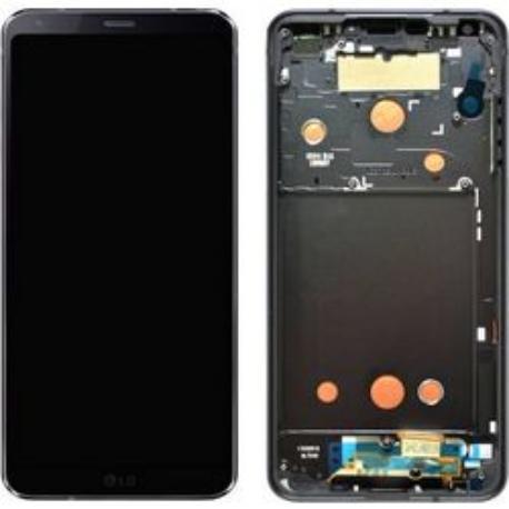 PANTALLA LCD DISPLAY + TACTIL CON MARCO ORIGINAL PARA LG G6 H870 - NEGRA