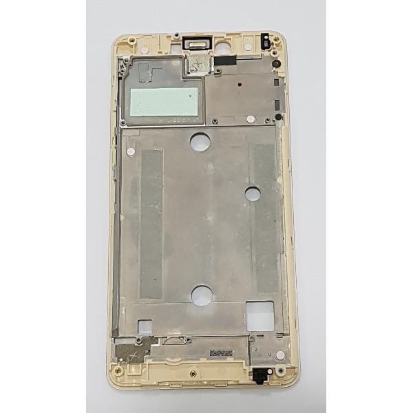 CARCASA FRONTAL DE LCD PARA BQ AQUARIS U / U LITE - ORO / REMANUFACTURADA