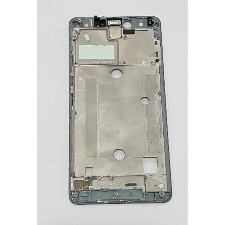 CARCASA FRONTAL DE LCD PARA BQ AQUARIS U / U LITE - NEGRA / REMANUFACTURADA