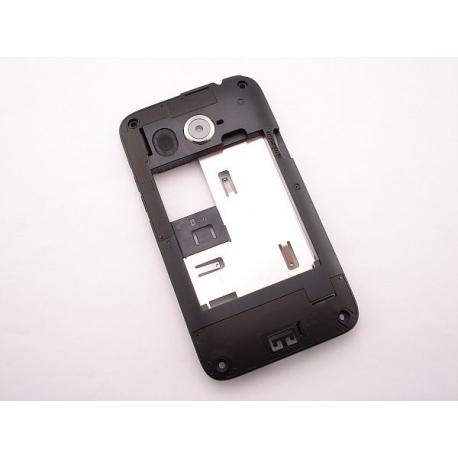 Carcasa Intermedia con Lente de Camara Original HTC Desire 200 Negra