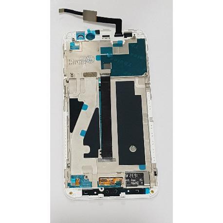 PANTALLA LCD DISPLAY + TACTIL CON MARCO PARA ZTE BLADE V7 - BLANCA