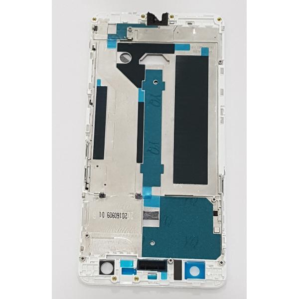CARCASA FRONTAL DE LCD PARA ZTE NUBIA Z7 MAX - BLANCA