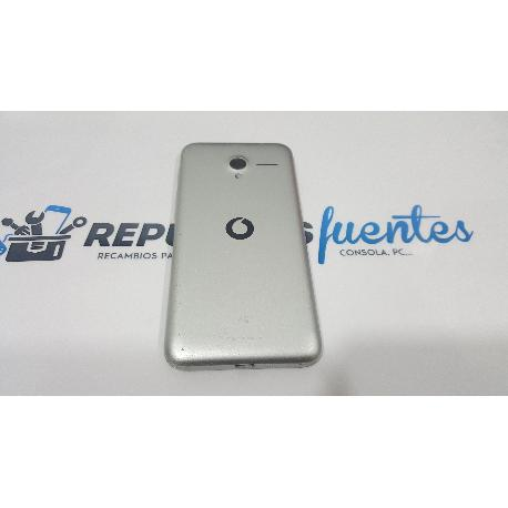 TAPA TRASERA ORIGINAL PARA VODAFONE SMART SPEED 6 VF795 PLATA - RECUPERADA