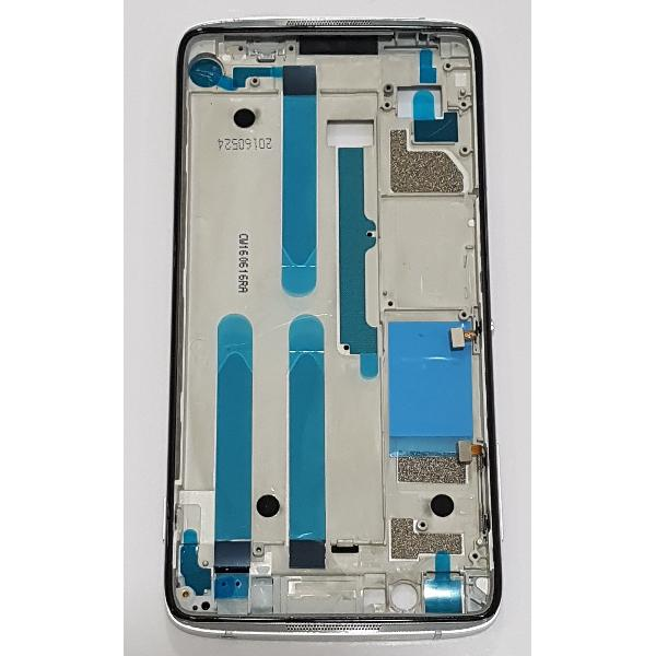 CARCASA FRONTAL DE LCD PARA ALCATEL IDOL 4 6055 - PLATA