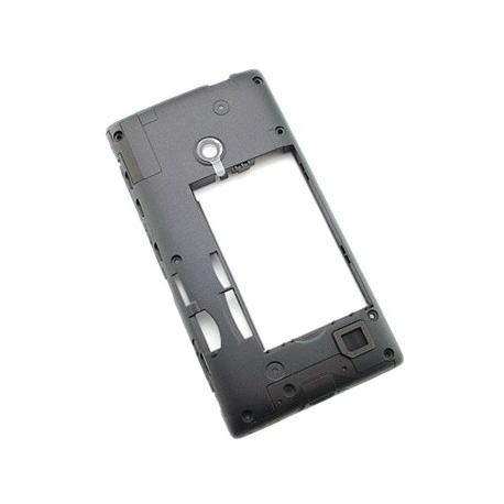Carcasa Con Lente de Camara Original Nokia Lumia 520 Negra