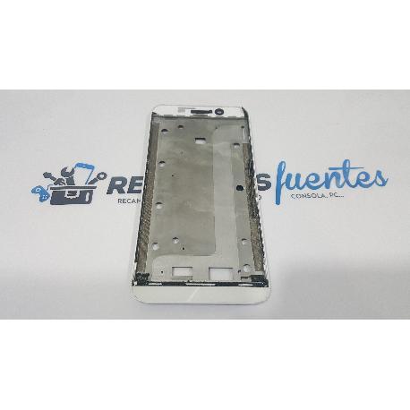 MARCO FRONTAL ORIGINAL PARA ASUS ZENFONE MAX ZC550KL Z010D BLANCO - RECUPERADO