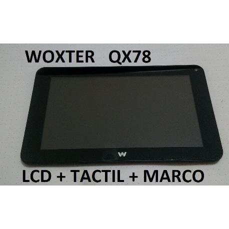PANTALLA LCD  DISPLAY + TACTIL CON MARCO ORIGINAL PARA WOXTER QX78 QX 78 - RECUPERADA