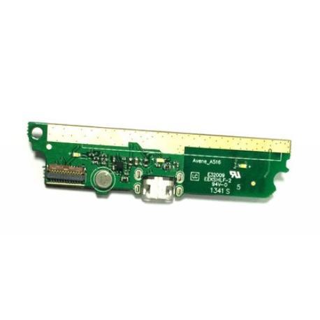 MODULO CONECTOR DE CARGA MICRO USB, VIBRADOR Y MICROFONO PARA LENOVO A516