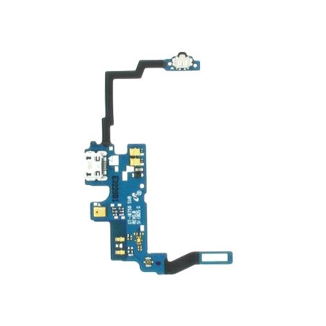 Flex Conector de Carga Original Pantalla Lcd + Tactil con Marco Original Samsung ATIV S i8750