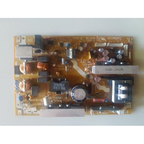 FUENTE DE ALIMENTACION POWER SUPPLY BOARD 68-FB43B SRV2169WW TV TOSHIBA 37RV635D - RECUPERADA
