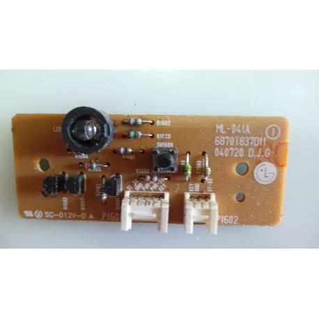 RECEPTOR IR TV LG RZ-32LZ50 ML-041A 6870T837D11 - RECUPERADO
