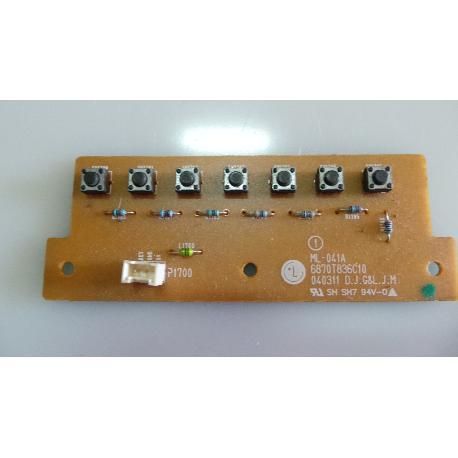 PLACA DE BOTONES TV LG RZ-32LZ50 ML-041A 6870T836C10 - RECUPERADA