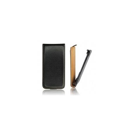 Funda Cuero Vertical Huawei Y530 Negra