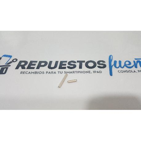 BOTONES DE CARCASA ORIGINAL PARA MOBIOLA MS50B10000 DORADO - RECUPERADO
