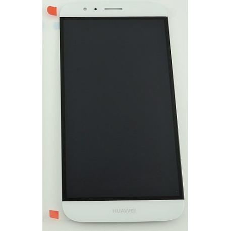 PANTALLA TACTIL + LCD DISPLAY CON MARCO PARA HUAWEI G8 / G8X BLANCA