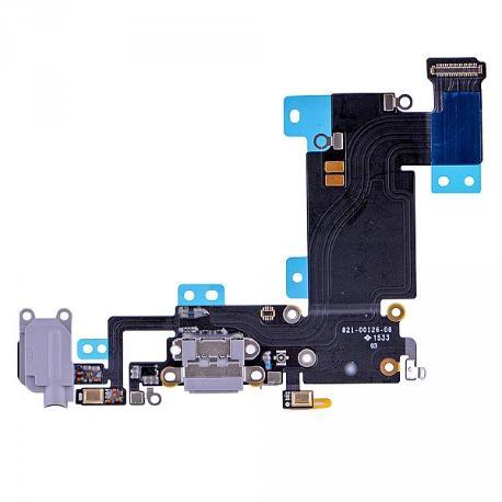 FLEX CONECTOR DE CARGA Y JACK DE AUDIO PARA IPHONE 6S PLUS - GRIS