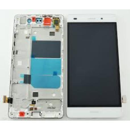 REPUESTO PANTALLA LCD + TACTIL CON MARCO PARA HUAWEI ASCEND P8 LITE - NEGRO