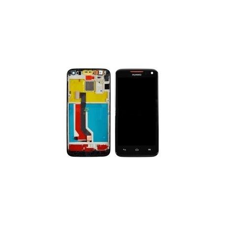 Pantalla Lcd + Tactil con Marco Huawei Ascend D1 U9500 Negro