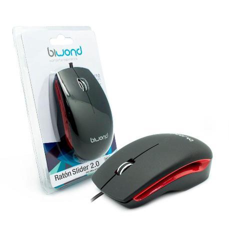 RATON MOUSE USB SLIDER 2.0 - NEGRO
