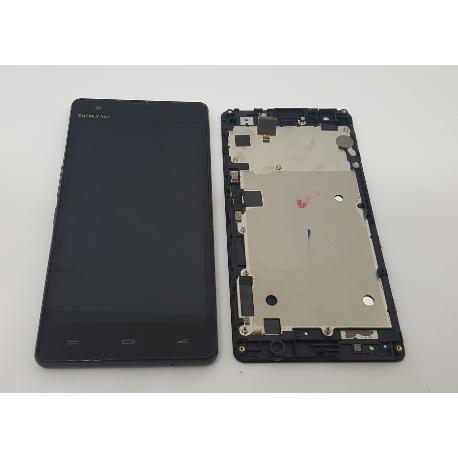 PANTALLA LCD + TACTIL CON MARCO ORIGINAL PARA ENERGY PHONE MAX 4G NEGRA - RECUPERADA