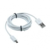 Cable de datos Micro USB blanco 3 metros