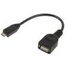 Cable micro Usb a Usb hembra 10 cm