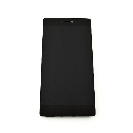 PANTALLA LCD DISPLAY + TACTIL CON MARCO PARA HUAWEI P8 - NEGRA