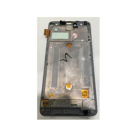 PANTALLA LCD DISPLAY + TACTIL CON MARCO BQ AQUARIS U, U LITE - BLANCA / REMANUFACTURADA