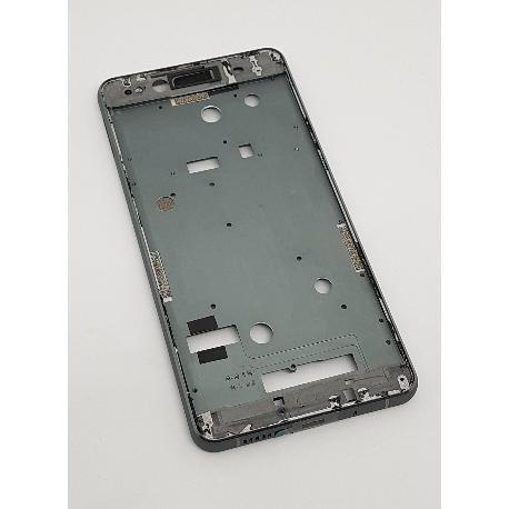 CARCASA MARCO FRONTAL DE LCD BQ AQUARIS X5 - NEGRA