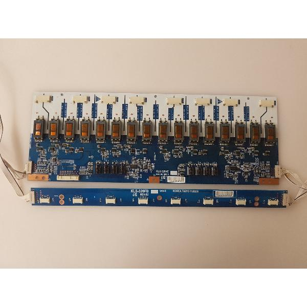 PLACAS INVERTER BOARD KLS-320VE REV 04 - KLS-320FB REV 02 PARA TV PANASONIC TX-32LX50F - RECUPERADAS