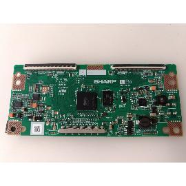 PLACA T-CON BOARD TV NEVIR NVR-7506-40HD ZQ 31A02 4224TP SHARP - RECUPERADA