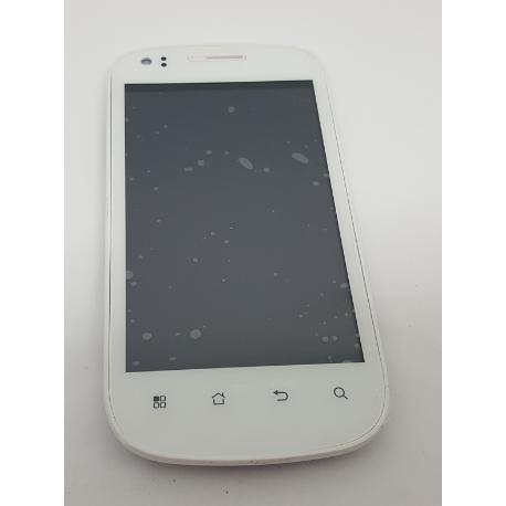 PANTALLA LCD DISPLAY + TACTIL CON MARCO ORIGINAL PARA LAZER X40I BLANCA - RECUPERADA
