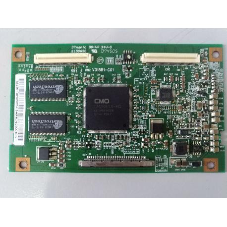 PLACA T-CON BOARD V315B1-C01 TV TECO 3296RV- RECUPERADA