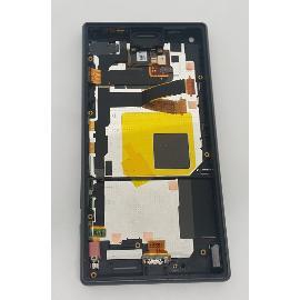 PANTALLA LCD DISPLAY + TACTIL CON MARCO ORIGINAL PARA SONY Z5 COMPACT E5823, E5803 NEGRA - RECUPERADA