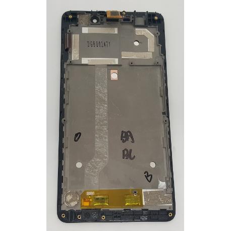 PANTALLA TACTIL + LCD DISPLAY CON MARCO ORIGINAL ARA WIKO PULP FAB DE 5.5 PULGADAS NEGRA - RECUPERADA
