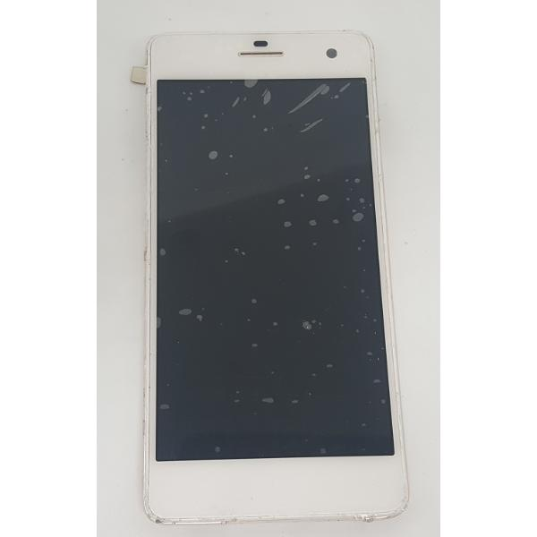 PANTALLA LCD DISPLAY + TACTIL CON MARCO ORIGINAL WIKO HIGHWAY 4G BLANCA - RECUPERADA