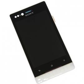Pantalla completa con marco Original Sony xperia miro st23i Negra