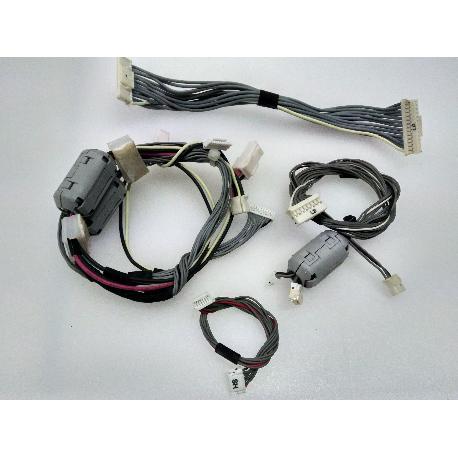 SET DE 4 CABLES ORIGINAL PARA TV SHARP LC-32P70E - RECUPERADO