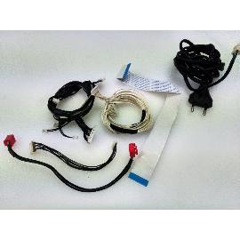 SET DE 4 CABLES + FLEX + CABLE DE CORRIENTE ORIGINAL PARA TV ECRON TFT-20 - RECUPERADO