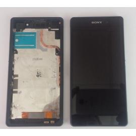 Pantalla LCD + Tactil con Marco Original Sony Xperia Z2 D6503 Negra de Desmontaje