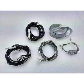 SET DE 4 CABLES + 1 FLEX PARA TV SHARP LC-42SD1E - RECUPERADO