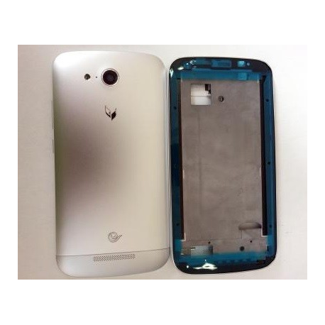 Carcasa Completa Huawei G740 Orange Yumo plata