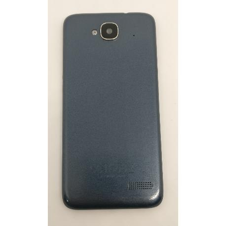 TAPA TRASERA ORIGINAL PARA ALCATEL ONE TOUCH IDOL MINI OT-6012X (ORANGE HIRO) AZUL - RECUPERADA
