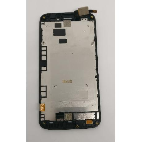 PANTALLA LCD DISPLAY + TACTIL CON MARCO ORIGINAL PARA ALCATEL POP2 M5 OT-5042 (ORANGE ROYA) - RECUPERADA