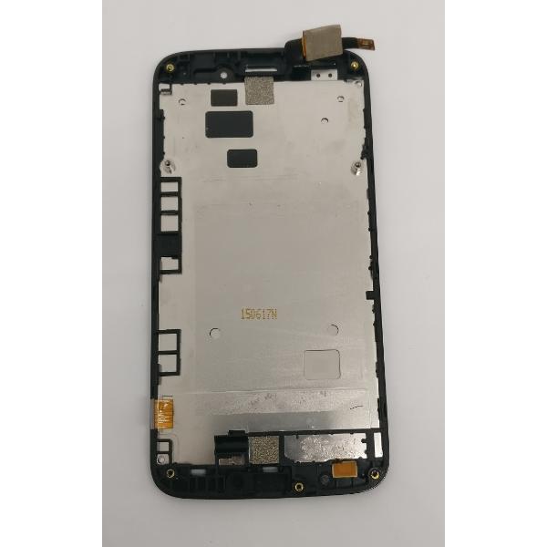 PANTALLA LCD DISPLAY + TACTIL CON MARCO ORIGINAL PARA ALCATEL POP2 M5 OT-5042 (ORANGE ROYA) - RECUPERADA