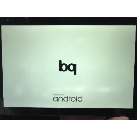 PANTALLA LCD + TACTIL + MARCO ORIGINAL TABLET BQ AQUARIS E10 VERSION  WIFI / 3G (MANCHAS BLANCAS) - RECUPERADA